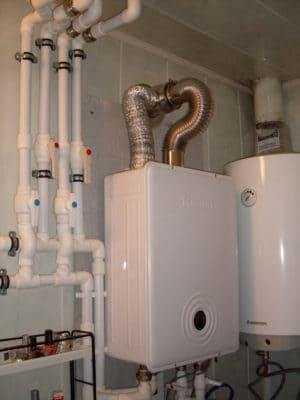установка газового двухконтурного котла