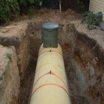 Установка Чешского газгольдера 4850 лит. в яме
