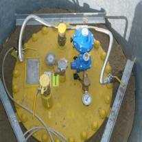 Подключением редуктора SRG-511 с подачей газа в дом