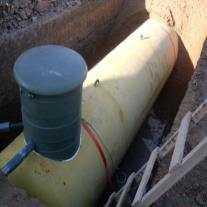 Установка Чешского газгольдера 6400 лит. на два дома