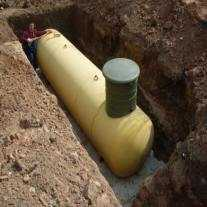 Установка Чешского газгольдера на плиту в яме г. Дмитров