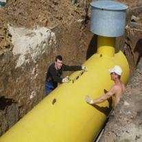 Установка Чешского газгольдера 6400 лит. в/г под уровень г. Домодедово