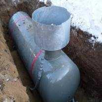Установка Чешского газгольдера VPS 4850 лит. высокая горловина пос. Лапино Одинцовский р-н