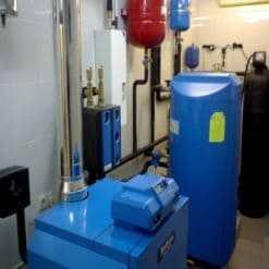 Монтаж газового котла Buderus 73 кВт + косвенный бойлер Buderus цена работы с обвязкой + расходный материал 65000